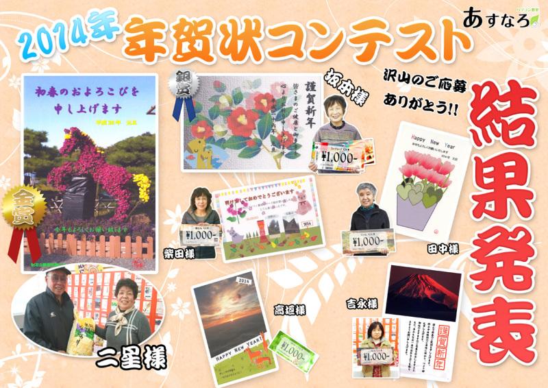 2014年、年賀状コンテスト結果発表!!!!