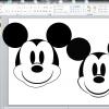 パワーポイントで図形を使って描く絵(ミッキー編)